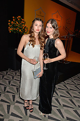 Left to right, sisters DANIELLE COPPERMAN and JULIET COPPERMAN at the Veuve Clicquot Business Woman Award 2016 held at Claridge's Hotel, Brook Street, London on 9th May 2016.