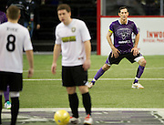 Nick Stavrou (23) of the Dallas Sidekicks stretches before play against the Rockford Rampage at the Allen Event Center on Saturday, February 9, 2013 in Little Elm, Texas. (Cooper Neill/The Dallas Morning News)