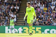 Wayne Hennessey , the goalkeeper of Crystal Palace looks on. <br /> Premier League match, Crystal Palace v Swansea city at Selhurst Park in London on Saturday 26th August 2017.<br /> pic by Kieran Clarke, Andrew Orchard sports photography.
