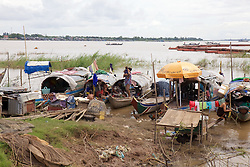 People Living Along River