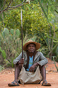 Local guard<br /> Berenty<br /> South Madagascar<br /> MADAGASCAR