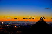 Sunset over Tel Aviv and Dan region in central Israel