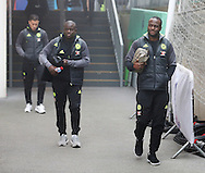 Chelsea's Victor Moses and N'Golo Kante arrive for the match during during the Premier League match at Selhurst Park Stadium, London. Picture date December 17th, 2016 Pic David Klein/Sportimage