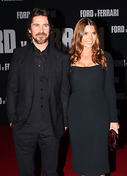 Ford v Ferrari Premiere atThe TCL Chinese Theater in Hollywood, California on 11/4/19. 04 Nov 2019 Pictured: Christian Bale, Sibi Blazic. Photo credit: River / MEGA TheMegaAgency.com +1 888 505 6342