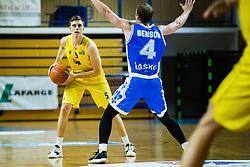 Jan Novak of GGD Sencur during basketball match between GGD Sencur and Zlatorog Lasko in First Round of 1. SKL 2020/21, on October 31, 2020 in Sport hall Sencur, Sencur, Slovenia. Photo by Grega Valancic / Sportida