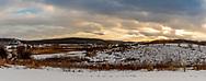 Matz Farmstead remnants near Indian Lake at midwinter sunset. Photo taken February 7, 2020.
