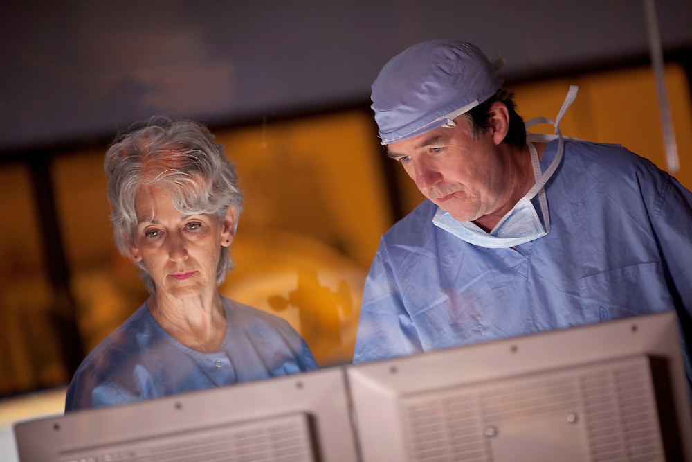 """Dr LaFoe in Cath Lab for """"It Has Always Been"""" SFMC Cape Girardeau, MO 6-8-11 Photo by Mike Roemer"""
