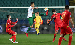 Ivaylo Chochev (2L) of Bulgaria  in action against Nikola Vukcevic (2R) of Montenegro during the EURO 2020 UEFA Qualifier Group A match between Bulgaria and Montenegro at The Vasil Levski Stadium in Sofia, Bulgaria, 22 March 2019.
