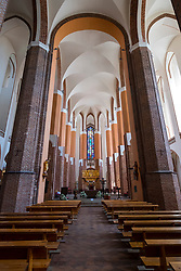 Interior of Cathedral Basilica of St. James the Apostle in Szczecin, Poland.