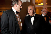 SIR DAVID FROST; SIR ALAN WHICKER, 80th anniversary gala dinner for the FoylesÕ Literary Lunch. Ballroom. Grosvenor House Hotel. Park Lane. London. 21 October 2010. -DO NOT ARCHIVE-© Copyright Photograph by Dafydd Jones. 248 Clapham Rd. London SW9 0PZ. Tel 0207 820 0771. www.dafjones.com.<br /> SIR DAVID FROST; SIR ALAN WHICKER, 80th anniversary gala dinner for the Foyles' Literary Lunch. Ballroom. Grosvenor House Hotel. Park Lane. London. 21 October 2010. -DO NOT ARCHIVE-© Copyright Photograph by Dafydd Jones. 248 Clapham Rd. London SW9 0PZ. Tel 0207 820 0771. www.dafjones.com.
