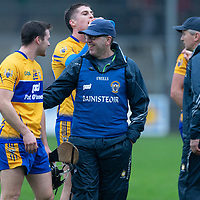 Clare's Co-Manager Gerry O'Connor congratulates Jack Browne after the game