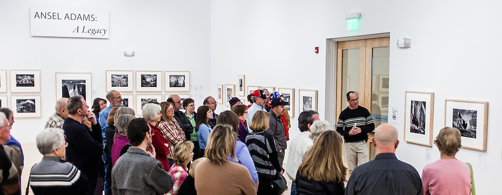 """Profesional photographer Kenton Rowe talking about the Ansel Adams 1942 Photograph """"White House Ruin, Canyon de Chelly"""" during a 2013 lecture at the Holter Museum of Art in Helena, MT"""