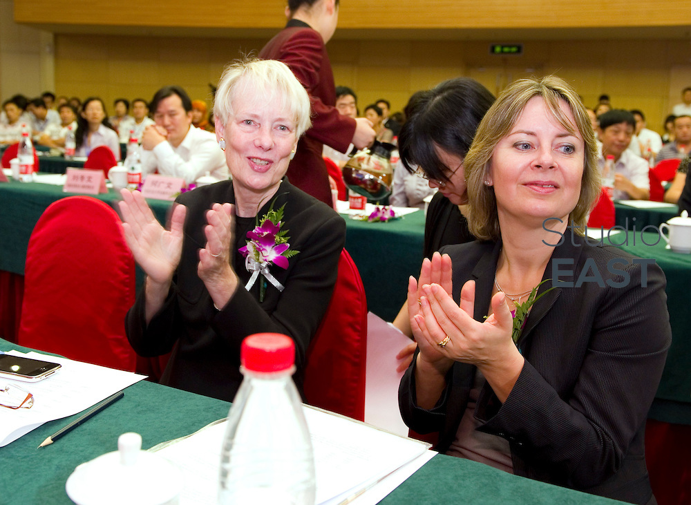 Winners receive prizes during Citi Microentrepreneurship Awards 2010 Ceremony, in Beijing, China, on September 16, 2010. Photo by Lucas Schifres/Pictobank