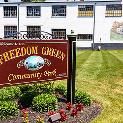 New Freedom, PA – June 25, 2016: The New Freedom Community Park sign.