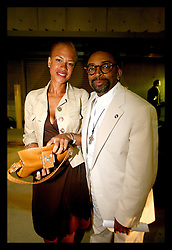 16 August 2006 - New Orleans - Louisiana. Spike Lee. Premier of his made for HBO movie 'When The Levees Broke,' at the New Orleans Arena. Spike with his wife Tonya Lewis Lee after the premier.