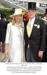 LORD & LADY BELL at Royal Ascot on 18th June 2002.PBC 198