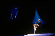 Weeks before his defeat in the 1997 election, British Prime Minister, John Major speaks at a Conservative party election rally on 29th April 1997, in London England. Major went on to lose to Labour's Tony Blair which spelled the era of Tory rule under Margaret Thatcher and then Major.