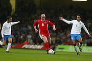 John Hartson in action during Wales v Italy football international, October 2002