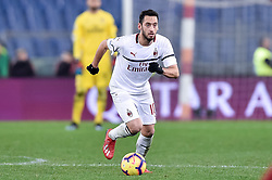 February 3, 2019 - Rome, Rome, Italy - Hakan Calhanoglu of Milan during the Serie A match between Roma and AC Milan at Stadio Olimpico, Rome, Italy on 3 February 2019. (Credit Image: © Giuseppe Maffia/NurPhoto via ZUMA Press)