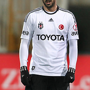 Besiktas's Hugo Almedia during their Turkey Cup matchday 3 soccer match Besiktas between Gaziantepspor BSB at the Inonu stadium in Istanbul Turkey on Wednesday 11 January 2012. Photo by TURKPIX