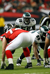 Philadelphia Eagles linebacker Will Witherspoon #50 during the NFL game between the Philadelphia Eagles and the Atlanta Falcons on December 6th 2009. The Eagles won 34-7 at The Georgia Dome in Atlanta, Georgia. (Photo By Brian Garfinkel)