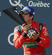 11, Lucas di Grassi (BRA) - ABT Schaeffler Audi Sport, ABT Schaeffler FE02, Celebration by the Winner of the FormulaE championship 2017,  PODIUM, <br /> <br /> CANADA e-Prix,FIA Formula E Grand Prix in Montreal on 30 july, 2017 . Formel E in Montreal.fee liable image,copyright@  ATP / Patrice Lapointe