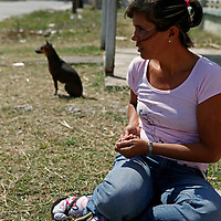 Central America, Cuba, Caibarien. Cuban girl of Caibarien.