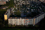 Nederland, Zuid-Holland, Capelle a/d IJssel 19-09-2009; flats in de wijk Middelwatering.flats in the district Middel Watering.luchtfoto (toeslag), aerial photo (additional fee required).foto/photo Siebe Swart