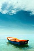 Orange Boat, Azure Sea - Koh Samui, Thailand