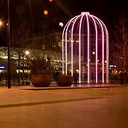 London, England, UK. 18 January 2018. Lumiere London 2018 at Granary square, King Cross, London, UK