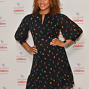 Angela Griffin attends the Children's charity hosts fashion and beauty lunch event, with live entertainment at The Dorchester, London, UK. 12 October 2018.