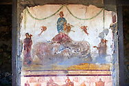 Roman Frescos of Pompei arhaeological site. .<br /> <br /> If you prefer to buy from our ALAMY PHOTO LIBRARY  Collection visit : https://www.alamy.com/portfolio/paul-williams-funkystock/pompeii.html<br /> Visit our CLASSICAL WORLD HISTORIC SITES PHOTO COLLECTIONS for more photos to buy as buy as wall art prints https://funkystock.photoshelter.com/gallery-collection/Classical-Era-Historic-Sites-Archaeological-Sites-Pictures-Images/C0000g4bSGiDL9rw