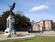 Victory sculpture war memorial, Cowdray Crescent, by Castle Park, Colchester, Essex