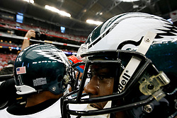 18 Jan 2009: Philadelphia Eagles players come in for a huddle before the NFC Championship game against the Arizona Cardinals on January 18th, 2009. The Cardinals won 32-25 at University of Phoenix Stadium in Glendale, Arizona. (Photo by Brian Garfinkel)