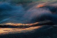 Waves at sunset.<br /> Kallskär, Stockholm Archipelago, Sweden