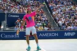 August 12, 2018 - Toronto, ON, U.S. - TORONTO, ON - AUGUST 12: Stefanos Tsitsipas (GRE) serves the ball during the Rogers Cup tennis tournament Final on August 12, 2018, at Aviva Centre in Toronto, ON, Canada. (Photograph by Julian Avram/Icon Sportswire) (Credit Image: © Julian Avram/Icon SMI via ZUMA Press)