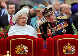File photo dated 03/06/12 of Queen Elizabeth II and Duke of Edinburgh onboard the Spirit of Chartwell during the Diamond Jubilee Pageant on the River Thames in London. The Duke of Edinburgh has died, Buckingham Palace has announced. Issue date: Friday April 9, 2020.. See PA story DEATH Philip. Photo credit should read: John Stillwell/PA Wire