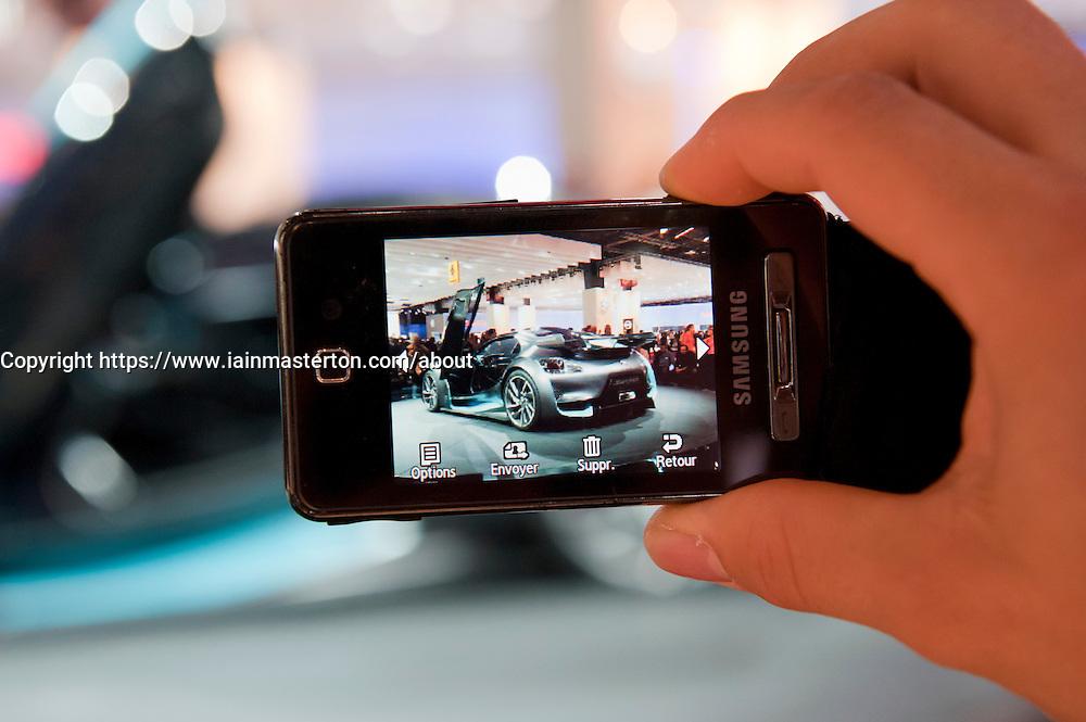 Citroen Survolt electric sports car at  car at Paris Motor Show 2010