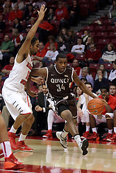 29 December 2014:  Tony Wills, T.J. Riggs during an NCAA non-conference interdivisional exhibition game between the Quincy University Hawks and the Illinois State University Redbirds at Redbird Arena in Normal Illinois.