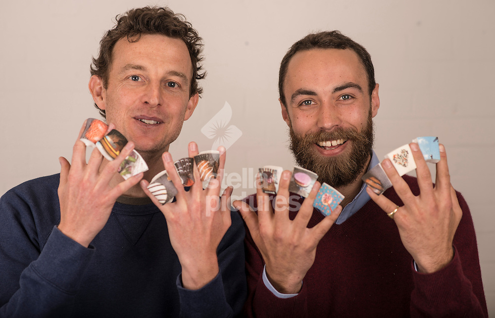 James Middleton (right) and Andy Bell from Boomf.<br /> Boomf allows you to print your Instagram images on to marshmallows. <br /> Picture by Daniel Hambury/Stella Pictures Ltd +44 7813 022858<br /> 26/03/2014
