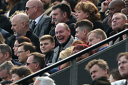 Paul Gascoigne in the stands during the Premier League match at St James' Park, Newcastle.