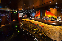 """District Lounge, """"The District"""" bar and night club area on the new Disney Dream cruise ship sailing between Florida and the Bahamas."""