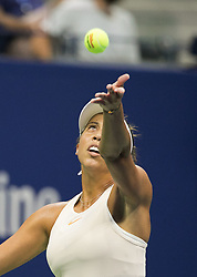 September 5, 2018 - Flushing Meadows, New York, U.S - Madison Keys wins her match against Carla Suarez Navarro on Day 10 of the 2018 US Open at USTA Billie Jean King National Tennis Center on Wednesday September 5, 2018 in the Flushing neighborhood of the Queens borough of New York City. Keys defeats Suarez Navarro, 6-4, 6-3. (Credit Image: © Prensa Internacional via ZUMA Wire)