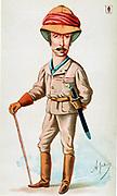 Garnet Joseph Wolsley, Viscount Wolsley (1833-1913) British field marshal, commander-in-chief British army 1895-1900. VC in Indian Mutiny. Led relief of Khartoum 1884-5. 'Ape' (Carlo Pellegrini) cartoon from 'Vanity Fair', London, 1874.