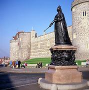 Statue of Queen Victoria, Windsor Castle, Berkshire, England