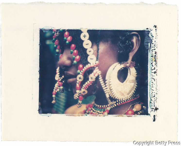 Afar girl dressed for a festival.<br /> Image size 4x5, Matted 12x10  Edition of 25 Archival Pigment Print