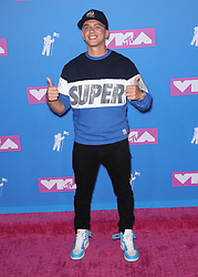August 21, 2018 - New York City, New York, USA - 8/20/18.Logic at the 2018 MTV Video Music Awards held at Radio City Music Hall in New York City..(NYC) (Credit Image: © Starmax/Newscom via ZUMA Press)