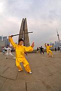 China-Shanghai-Tai chi