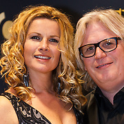 NLD/Amsterdam/20131018 - Inloop Televiziergala 2013, Anette Barlo en partner Frank Timmer