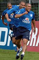 Brasiliens Adriano, Ronaldo und Roberto Carlos. © Alexander Wagner/EQ Images